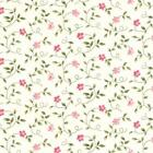 Maywood Studio Wild Rose Floral FLANNEL White Pink Calico Quilt Fabric 7893 WP