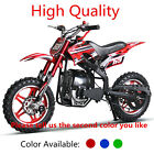 49cc Dirt Bike 50cc Kids Pocket Bike Moped Mini Motorcycle 10inch Aluminum Wheel