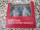 Pair Stainless Steel Dairy Farm Salt  Pepper Shakers Milk Cans New with Box