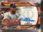 2019 Topps Tribute To Enshrinement Orange Autograph BOB GIBSON Auto #'d 22 25