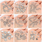 20X Stainless Steel Cross Crown Charm Pendant DIY Bracelet Necklace Making Craft