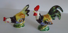Hen  Rooster Salt  Pepper Shakers Vibrant Colorful Japan made