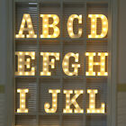 A Z Alphabet Letter LED Lights White Plastic Letters Standing Hanging Sign X