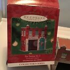 2001 FIRE STATION NO 1 NEW Hallmark Town and Country Ornament Pressed Tin