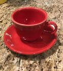 NEW Scarlet Red Fiestaware Homer Laughlin China Co.Tea Cup and Saucer Set Fiesta