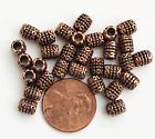 Bulk 300 antique copper tube spacer beads 6x5mm  3mm hole alloy spacer beads
