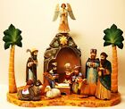 Alkota Russian Authentic Unique Wooden Collectible Nativity 20W x 18H x 11D