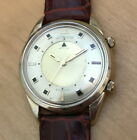 Vintage *Jumbo* 10K Gold Filled Jaeger LeCoultre Memovox Wristwatch-Working!