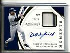 2019 Immaculte Moments Relic Auto Pin Stripe Dave Winfield Yankees 22 25