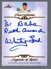 2012 Leaf Legends of Sport Whitey Ford Auto Inscriptions