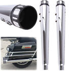 4 Megaphone Exhaust Pipes Mufflers For Harley Road King Touring Glide 95 UP CVO