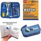 Eztool Watch Repair Kit With 16 Tools And 41-Page Illustrated Maintenance  Serv