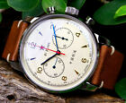 Seagull 1963 Chinese Chronograph 42mm with Sapphire crystal & crystal back!