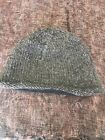 Natural Brown  Roll Beanie hat knit &  fleece lined Cosy gypsy boho
