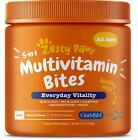 Zesty Paws Multivitamin Treats for Dogs Glucosamine Chondroitin for Joint S