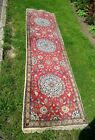 A LARGE GOOD QUALITY HAND MADE PERSIAN RUNNER