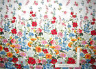 Field Of Dreams Wild Flower Border White Cotton Fabric Kanvas Studio By The Yard