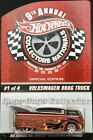 Hot Wheels 9th Nationals Volkswagen Drag Truck limited Real Riders