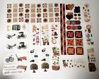 Creative Memories Sticker Lot 19 Sheets Heritage Family Tree Old Quilt Blocks