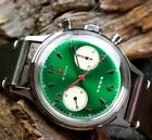 Seagull 1963 Red Star Chronograph 38mm Caliber ST19 Acryl GREEN dial