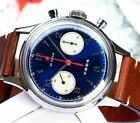 Seagull 1963 Red Star Chronograph 38mm Caliber ST19 Acryl BLUE dial