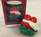 Hallmark OUR CHRISTMAS TOGETHER Ornament 1994 clip on w/Box ...Baby Cardinals