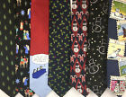 7 American Greetings neckties ties silk Christmas snowman holly nativity lot