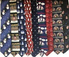 9 American Greetings neckties ties Christmas 100 silk humor nativity lot