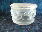 LALIQUE FRENCH SIGNED CANARDS CRYSTAL SWANS DRESSER BOX POWDER JAR