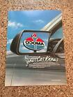 1986 VINTAGE 8X11 PRINT Ad FOR AMOCO GAS GASOLINE YOUR CAR KNOWS REARVIEW MIRROR