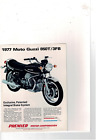 1977 MOTO GUZZI 850T/3FB MOTORCYCLE PATENTED INTEGRAL BRAKE SYSTEM AD PRINT H678