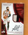 NIKOLA MIROTIC 2016-17 PANINI IMMACULATE COLLECTION PATCH AUTO RED 25
