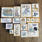 Precious Moments Wood And Rubber Stamp Lot