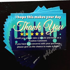 High Gloss Thank You For Your Purchase Ebay Amazon Etsy Cards Bulk No stickers