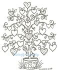 Love Heart Tree Valentines Day Wood Mounted Rubber Stamp NORTHWOODS P8384 New