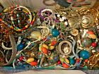 VTG NOW ESTATE JEWELRY LOT ALL WEAR 2 LBS UNTESTED Rhinestones Beads Gold Tone