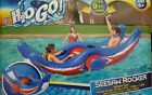 H2O GO Red Blue Aqua Rocker Inflatable 2 Person Swimming Pool Float 9ft long
