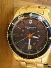 Victorinox Swiss Army Maverick Brown Dial Gold-Tone Stainless Watch 241607