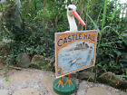 MAGNIFICENT EARLY 20TH CASTLE HALL PAPER MACHE STORK STORE DISPLAY GLASS EYES