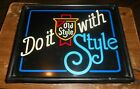 1984 141 2x111 2 lighted plastic old style beer sign works in good shape used