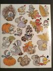 Vintage Stickers Cute Woodland Critters Animals American Greetings Sticker Sheet