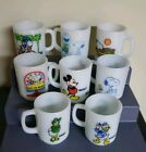 8 VINTAGE FIRE KING ANCHOR HOCKING SNOOPY, MICKEY MOUSE, DONALD DUCK, DAISY MUGS