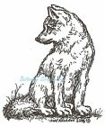 Wolf Pup Wood Mounted Rubber Stamp Northwoods Rubber Stamp F6557 New