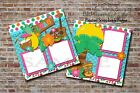 Luau Hawaii Beach Vacation 2 PRINTED Premade Scrapbook Pages BLJgraves 69