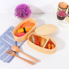 1 pc Lunch Box Wooden Portable Bento Container Food Carrier Snack Box for Office