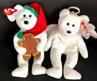 LOT of 2 beanie baby's TY Beanie Baby - GOODY the Holiday Bear & HALO Angel Bear