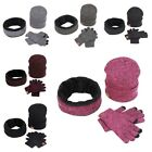 Winter Knitted Hat Beanie-Hat+Scarf Neck Warmers+Gloves Set Warm Clothing 3PCS