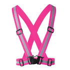 Fully Adjustable Safety Belt Vest Reflector High Visibility For Run Cycling Walk