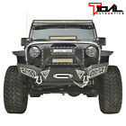 Tidal Web Front Bumper Rock Crawler with D rings Fit for 07 18 Jeep Wrangler JK