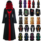 Women's Medieval Renaissance Fancy Dress Gothic Halloween Witch Cosplay Costume